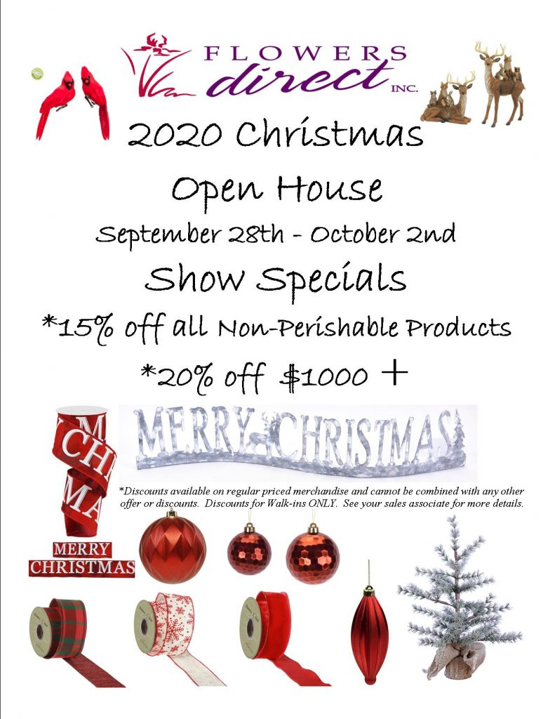 Christmas 2020 Open house Flyer